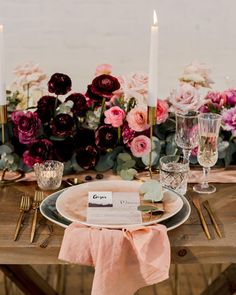 ***Wedding Inspiration*** Be our guest at this beautiful moody Valentines Day inspired tablescape- the industrial backdrop was filled with…