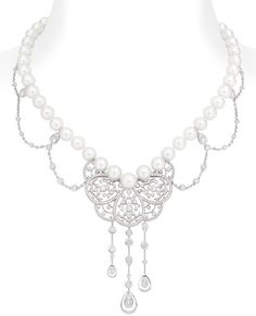 CHANEL    A pearl and dimaond necklace from the Chanel Joaillerie 'Secrets d'Orients' collection.