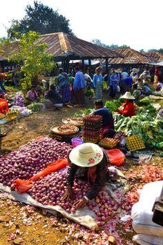 Maing Thauk Village Market, Inle Lake, Burma