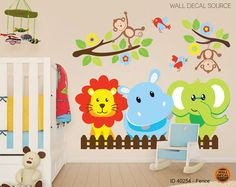 Jungle Animals and More - Jungle Wall Decals from Wall Decal Source