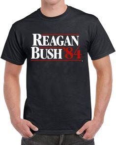 Reagan Bush 84 Men's Funny Political T-Shirt http://RightSmarts.com