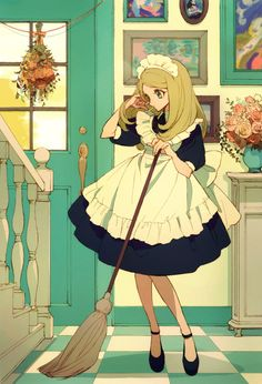 e-shuushuu kawaii and moe anime image board Maid Outfit Anime, Anime Maid, Female Character Design, Character Art, Pretty Art, Cute Art, Character Illustration, Illustration Art, Dibujos Cute