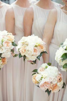 A beautiful bridesmaid look: http://www.stylemepretty.com/little-black-book-blog/2015/01/14/elegant-peach-dallas-wedding/ | Photography: Sarah Kate - http://sarahkatephoto.com/