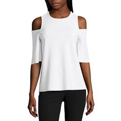 FREE SHIPPING AVAILABLE! Buy Worthington Short Sleeve Split-Back T-Shirt at JCPenney.com today and enjoy great savings.