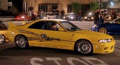 Leon's Yellow Nissan Skyline GT-R in the original Fast and Furious movie.  To see more Nissans featured in the Fast and the Furious movies, click the photo!