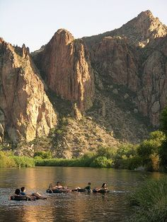 Tubing on Salt River in Arizona is a blast with all the saguaro cacti away from the river. Better hang onto your car keys.  We lost ours in the water.