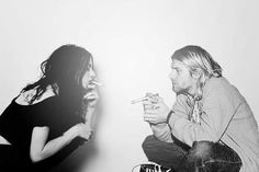 This picture makes me sad for some reason. Kurt and Frances Cobain