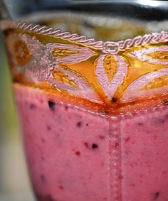 Smoothie of chokeberry