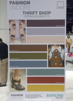 color palette for the Thrift Shop spring summer 2015 fashion trend forecast as seen on The Key To Chic