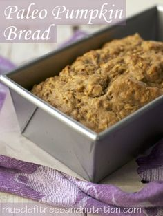 As if the picture isn't tempting enough, Pumpkin is actually a great source of antioxidants and rich in #Omega3: #Paleo Pumpkin Bread #Recipe.
