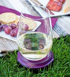 Bella D'Vine wine glass holder + lawn peg is perfect for summer concerts and picnics! $9.99 www.BellaDvine.com