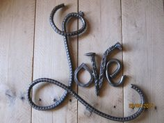 Rebar Love Sign wedding gift metal art rebar art by DanielsDecor