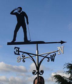 Golfing Weathervane - Seve Ballesteros bespoke commission - Stage 3