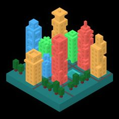 Little Cities 1  #isometric #art #Hexels
