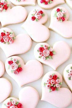 Wedding Cake Cookies Decor Ideas ★ See more: www.weddingforwar… Wedding Cake Cookies Decor Ideas ★ See more: www. Valentines Day Cookies, Valentine Desserts, Valentine Ideas, Printable Valentine, Valentine Nails, Homemade Valentines, Valentine Wreath, Valentine Box, Birthday Cookies