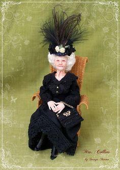 CUSTOM ORDER Edwardian OLD Lady ooak 1/12 by SorayaMiniatures