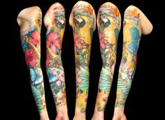 full sleeve tattoos with meaning Great Tattoos, Body Art Tattoos, Bird Tattoos, Tatoos, Tattoo Drawings, Color Tattoos, Amazing Tattoos, Animal Tattoos, Koi Tattoo Design