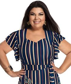 Fabiana Karla by Hiroshima - Vestido em helanca e renda Moda Plus Size, Hiroshima, Plus Size Fashion, Diana, Ideias Fashion, Tops, Women, Chubby Ladies, Ladies Outfits