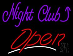 Night Club With Arrow Open Neon Sign 24 Tall x 31 Wide x 3 Deep, is 100% Handcrafted with Real Glass Tube Neon Sign. !!! Made in USA !!!  Colors on the sign are Purple, Red and White. Night Club With Arrow Open Neon Sign is high impact, eye catching, real glass tube neon sign. This characteristic glow can attract customers like nothing else, virtually burning your identity into the minds of potential and future customers.
