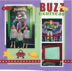 Buzz Lightyear scrapbook layout