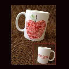 Personalized Coffee Mugs - 11 oz - Personalized Hot Chocolate - Design your own - Teacher Appreciation - End of School Year Gift -
