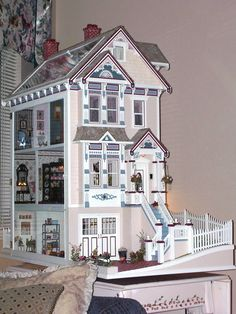 My dollhouse, a gift from my husband Jim and built by Stan Ohman