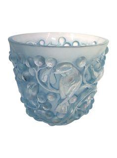 R. Lalique Avalon Blue Patina Sparrow Vase #thehighboy #highboystyle www.thehighboy.com