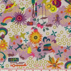 Alison Glass Clover Sunshine Favorites Lilac
