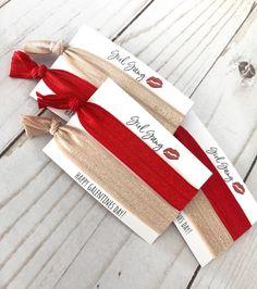 Galentine's Day Hair Tie Favor | Galentine's Gift | Girl Gang | Valentine's Girls Night | Girl Gift Valentine's Party