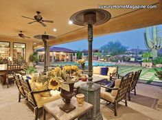 Must have patio heaters.