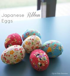 DIY Japanese Ribbon Eggs - Up to Date Interiors