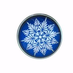 #5280 Blue Snowflake Collection Snap Charm 20mm (Choice of 12)