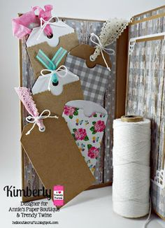 DT Kimberly @ Twine It Up! by Annie's Paper Boutique: Memory Keeping with Trendy Twine using Totally White, Totally Lemon & Watermelon Taffy Trendy Twine along with  Chevron Trendy Page Dots. http://shop.anniespaperboutique.com/main.sc