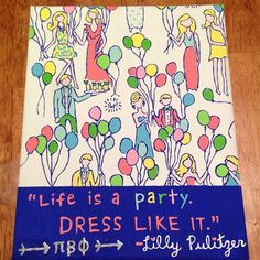 Lilly Pulitzer, of course I'd have Kappa Alpha Theta at the bottom