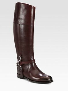 Ralph Lauren Collection - Sandra Leather Riding Boots - Saks.com