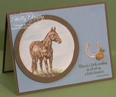 If you like the horse in Stampin' Up! Horse Frontier . . .