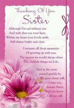 Missing My Sister In Heaven Poems Sister : I Miss Those Who Are - - jpeg Loss Of A Sister, I Miss My Sister, My Sweet Sister, Baby Sister, My Sister Quotes, Sister Poems, Sister Birthday Quotes, Birthday Wishes, Sister Sayings