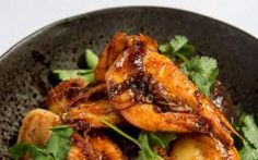Sexy Fish's Hot & Sour Prawns with New Potatoes