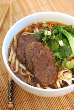 Chinese Beef Noodle Soup 牛肉麵