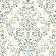"Found it at Wayfair - Candice Olson Inspired Elegance Tasara 27' x 27"" Paisley Wallpaper"