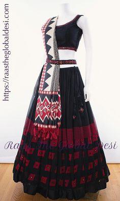 multi colored chaniya choli – Raas The Global Desi Indian Fashion Dresses, Indian Gowns Dresses, Dress Indian Style, Indian Designer Outfits, Indian Outfits, Indian Wear, Indian Clothes, Indian Attire, Garba Chaniya Choli