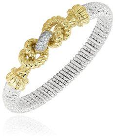 Vahan - 14K Yellow Gold & Sterling Silver, Diamond Bracelet