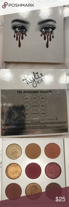 The Burgundy Palette- Kylie Cosmetics Kylie Cosmetics - The Burgundy Palette - used once with a brush - item is Authentic. Kylie Cosmetics Makeup Eyeshadow