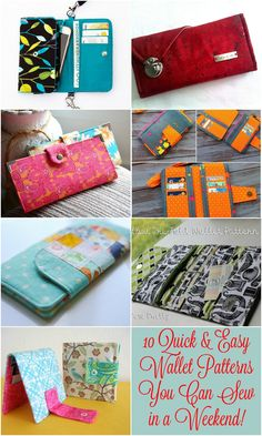 10 Quick & Easy Wallet Patterns You Can Sew in a Weekend!