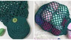 Knitting Patterns, Crochet Patterns, Knit Crochet, Crochet Hats, Crochet Market Bag, Net Bag, Crochet Videos, Handmade Bags, Crochet Projects