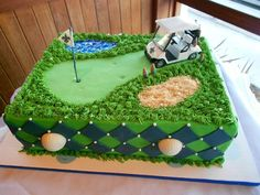 Saints/Golf Grooms cake golf cake birthday & K Wedding (This is an affiliate link) Want extra info? Click the image. Golf Themed Cakes, Golf Birthday Cakes, Golf Cakes, 60th Birthday, Birthday Ideas, Theme Cakes, Birthday Parties, Golf Grooms Cake, Groom Cake