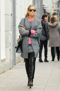 Sylvie Meis shopping in Hamburg