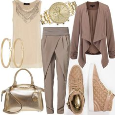 Gold Chic #fashion #mode #look #outfit #style #stylaholic #sexy #dress