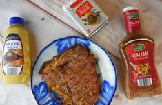 We have the easiest 3 ingredient steak marinade for you---ground black pepper, bottled Italian dressing, and Dijon mustard. Italian Dressing Marinade, Steak Marinade Recipes, Dinner Entrees, 3 Ingredients, I Foods, Mustard, Cows, Articles, People
