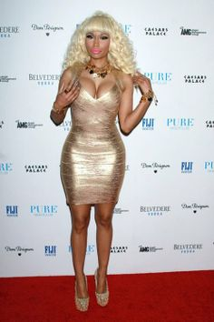 Nicki Minaj Foil Printing Bandage Dress H019G - $129 by Celebdressy  Just order the size you usually wear!  Material: 90% Rayon, 9% Nylon, 1% Spandex;  To get a discount, please contact email:beeyourstyle@gmail.com  Dry clean only